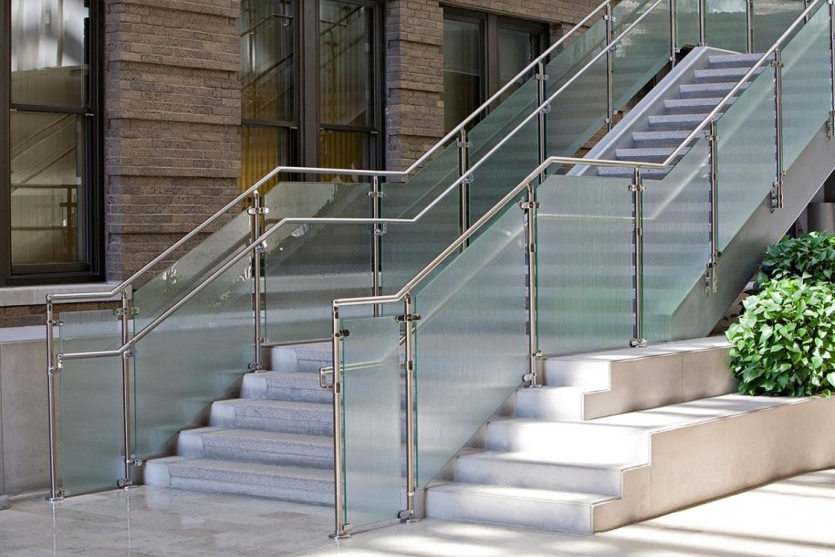 Stainless Steel Railings Vs Wooden Railings Demilked   Stainless Steel Staircase Railing With Glass   Infill   Custom Glass   Indoor   Panel   Modern