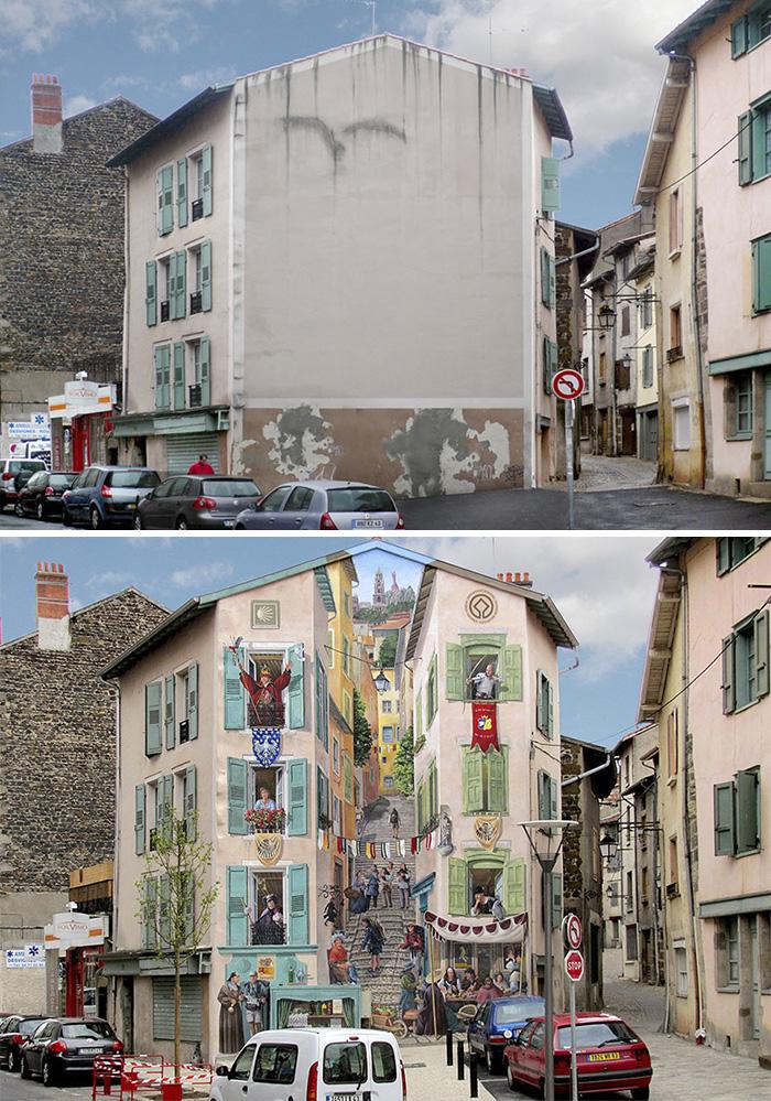 street art hyper realistic fake facades patrick commecy 1 - Artista francês transforma fachadas de prédios em desenhos cheios de vida