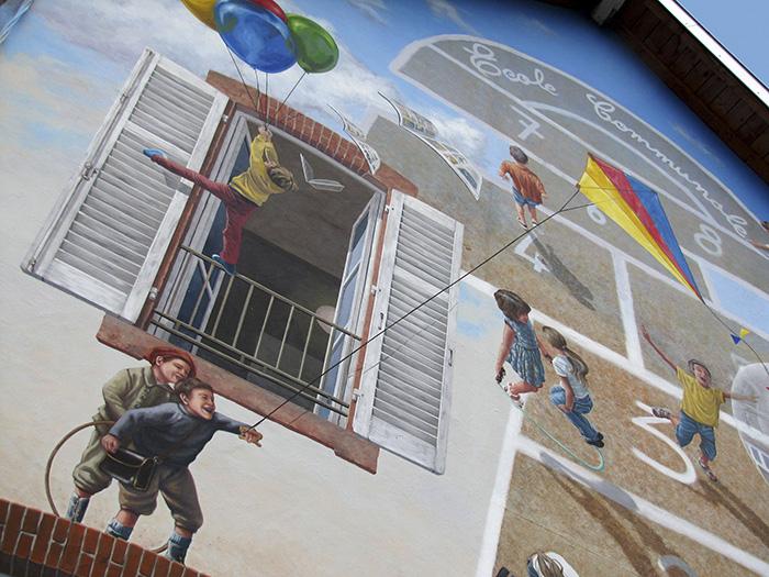 street art hyper realistic fake facades patrick commecy 10 - Artista francês transforma fachadas de prédios em desenhos cheios de vida