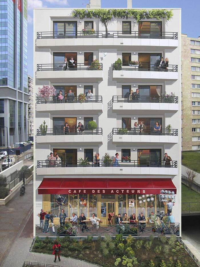 street art hyper realistic fake facades patrick commecy 17 - Artista francês transforma fachadas de prédios em desenhos cheios de vida
