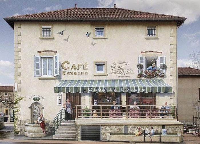 street art hyper realistic fake facades patrick commecy 2 - Artista francês transforma fachadas de prédios em desenhos cheios de vida