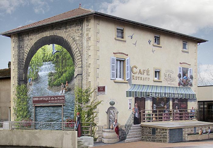 street art hyper realistic fake facades patrick commecy 20 - Artista francês transforma fachadas de prédios em desenhos cheios de vida