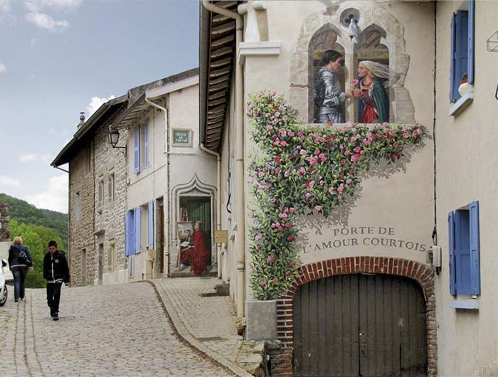 street art hyper realistic fake facades patrick commecy 3 - Artista francês transforma fachadas de prédios em desenhos cheios de vida