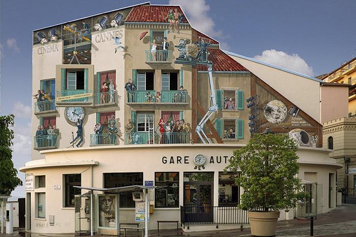 street art hyper realistic fake facades patrick commecy 6 - Artista francês transforma fachadas de prédios em desenhos cheios de vida