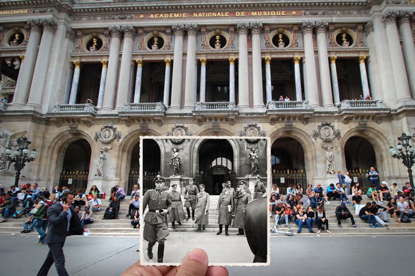 old paris past now photography julien knez 11 - Paris no passado nestas fotos justapostas