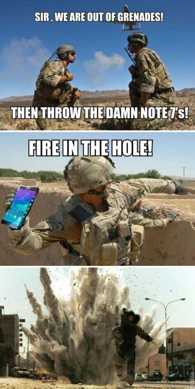 10 Funniest Reactions To The (Again) Exploding Samsung Note 7