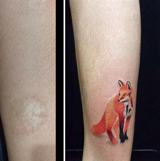 scars tattoos cover up 32 - 50 Incríveis tatuagens de encobrimento de cicatrizes