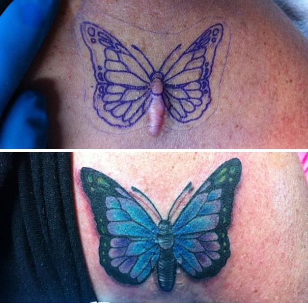 scars tattoos cover up 46 - 50 Incríveis tatuagens de encobrimento de cicatrizes