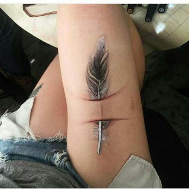 scars tattoos cover up 6 - 50 Incríveis tatuagens de encobrimento de cicatrizes