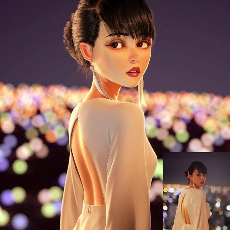 59b695d023c7f artist transforms strangers 3d cartoons lance phan 24 59b23cc930c10  700 - Você gostaria de se tornar um personagem da Pixar?