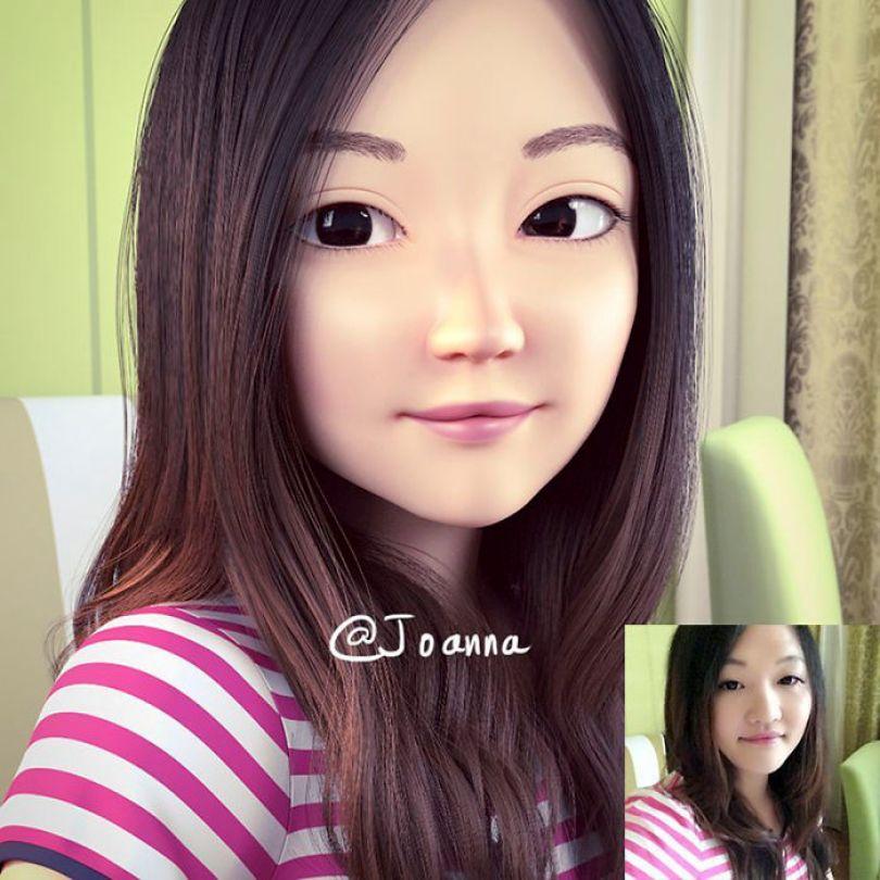 59b695d17ed19 artist transforms strangers 3d cartoons lance phan 9 59b23ca1bfe38  700 - Você gostaria de se tornar um personagem da Pixar?