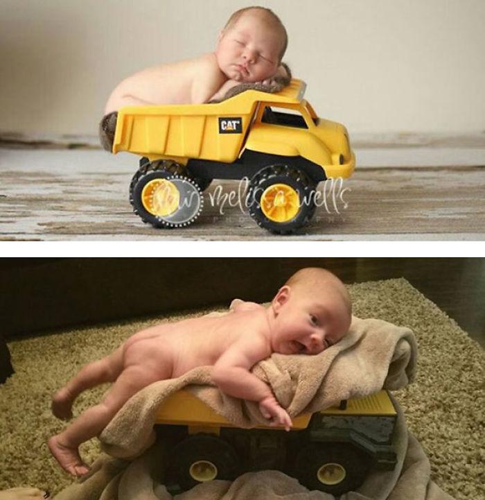 59e0b27a3b963 baby photoshoot expectations vs reality pinterest fails 16 577f63975c7c1  700 - Tirar foto de bebê não é nenhum pouco fácil