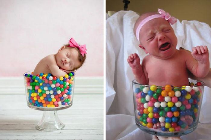 59e0b2802ef92 baby photoshoot expectations vs reality pinterest fails 3 577f637b5c55f  700 - Tirar foto de bebê não é nenhum pouco fácil