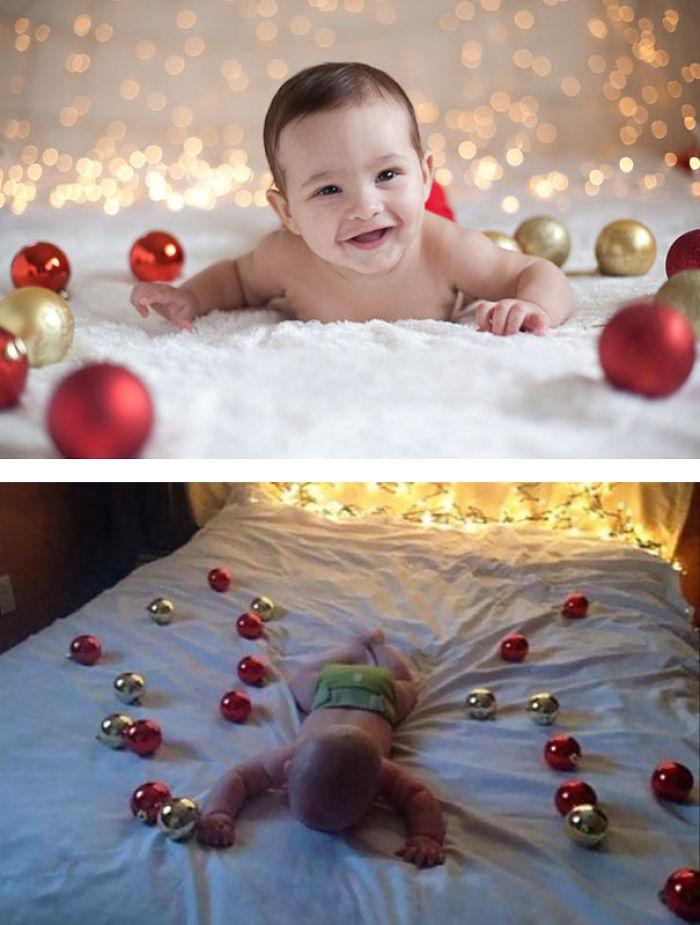 59e0b28421a81 baby photoshoot expectations vs reality pinterest fails 8 577f6385b67b4  700 - Tirar foto de bebê não é nenhum pouco fácil