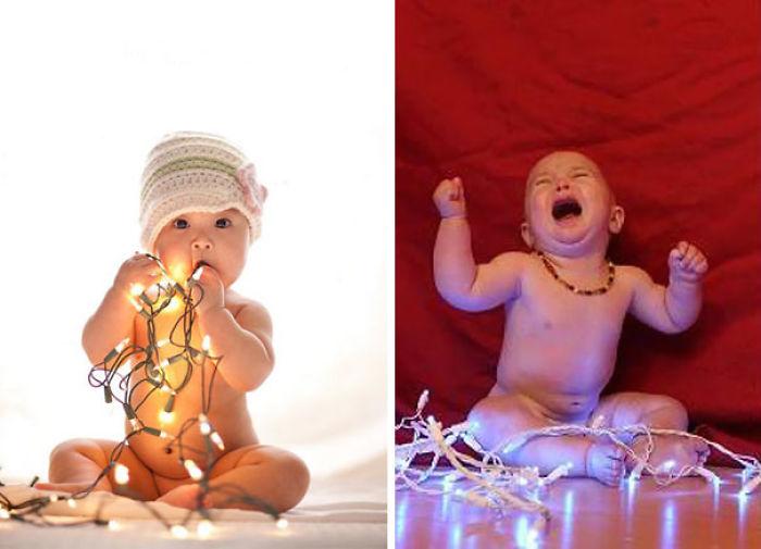 59e0b2902e0e9 baby photoshoot expectations vs reality pinterest fails 31 577fb3e49b0e7  700 - Tirar foto de bebê não é nenhum pouco fácil