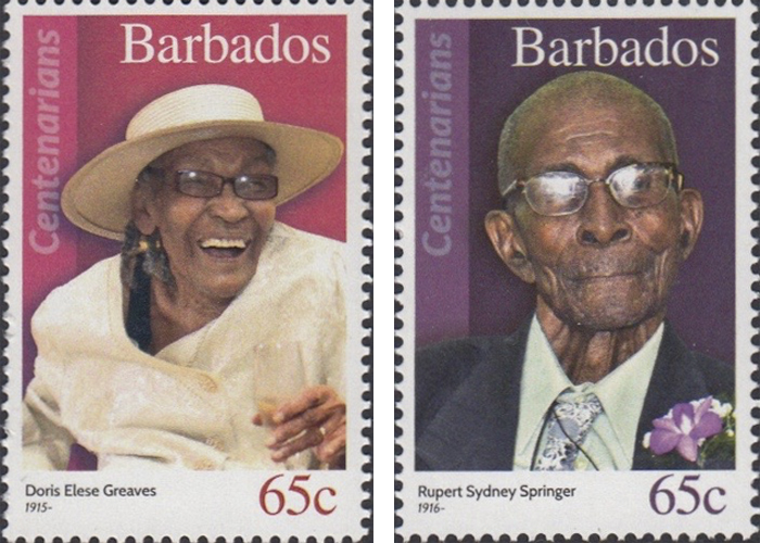 stamps-barbados12 Portraits Of 100-Year-Old Citizens Of Barbados Were Printed On Postal Stamps To Celebrate Their Impressive Anniversaries Random