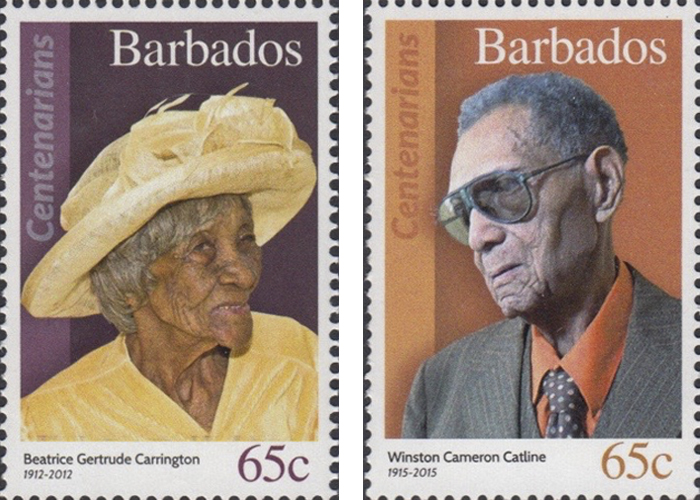 stamps-barbados15 Portraits Of 100-Year-Old Citizens Of Barbados Were Printed On Postal Stamps To Celebrate Their Impressive Anniversaries Random