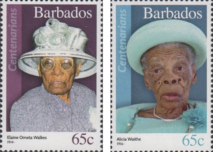 stamps-barbados17 Portraits Of 100-Year-Old Citizens Of Barbados Were Printed On Postal Stamps To Celebrate Their Impressive Anniversaries Random