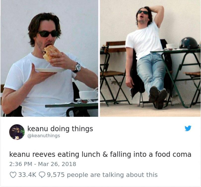 5abe1c06df032 978279423622434817 1 png  700 5abc9636b2c49  700 - Por que Keanu Reeves tímido e introvertido é tão popular na Internet?