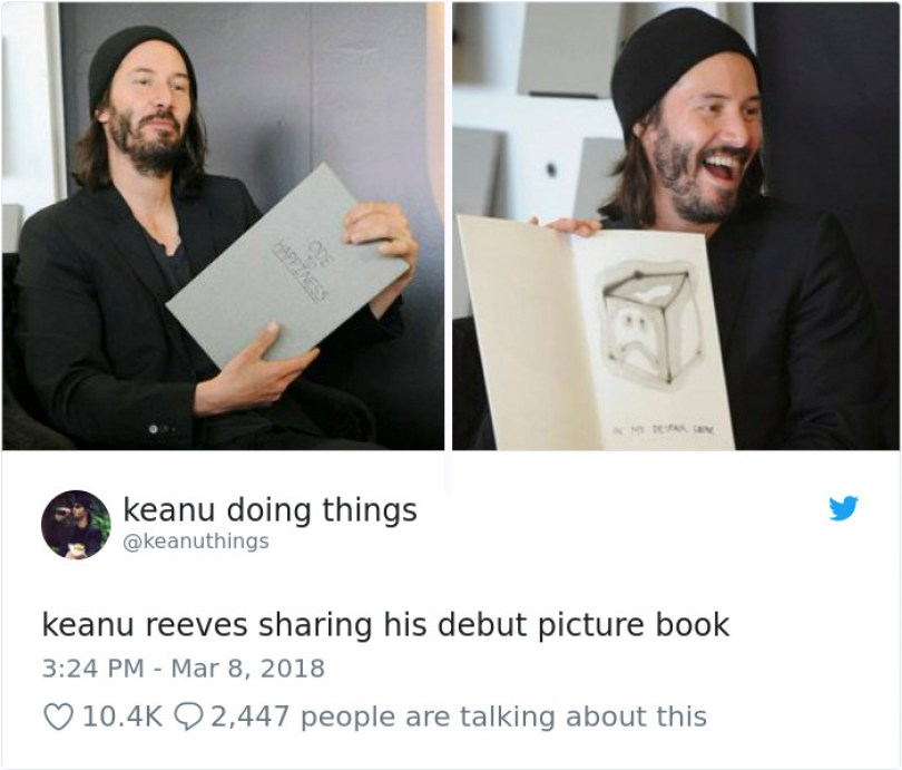5abe1c0a46c94 971768680500596746 png  700 5abc9f9075ce2  700 - Por que Keanu Reeves tímido e introvertido é tão popular na Internet?