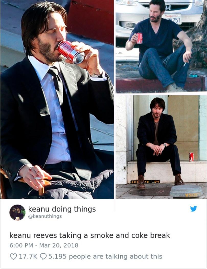 5abe1c0c75478 976156578977124352 1 png  700 5abc924600b3b  700 - Por que Keanu Reeves tímido e introvertido é tão popular na Internet?