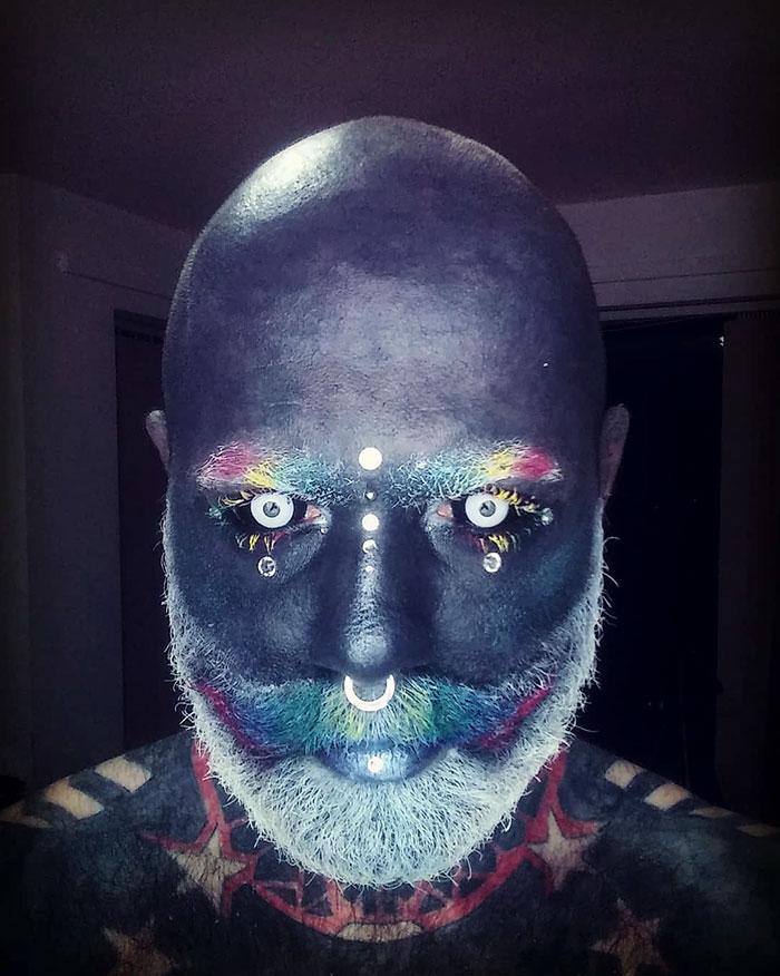 tattoo-full-body-polish-adam-curlykale-1 Polish Man Tattoos 90% Of His Body In Gray, Ends Up Looking Like A White Walker Random tattoo
