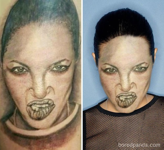 5b35de560f4f9-funny-tattoo-fails-face-swaps-2-5b277c7b0f5c9__700 We Face Swapped 20+ Tattoos To Show How Bad They Really Are, And Angelina Jolie Is Not As Sexy As We Remember Random