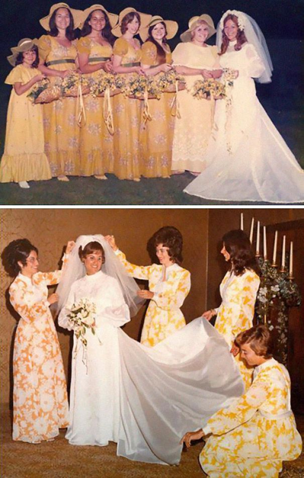 5b67f92240f5c-old-fashioned-funny-bridesmaids-dresses-23-5ae311748c380__700 15+ Hilarious Vintage Bridesmaid Dresses That Didn't Stand The Test Of Time Random