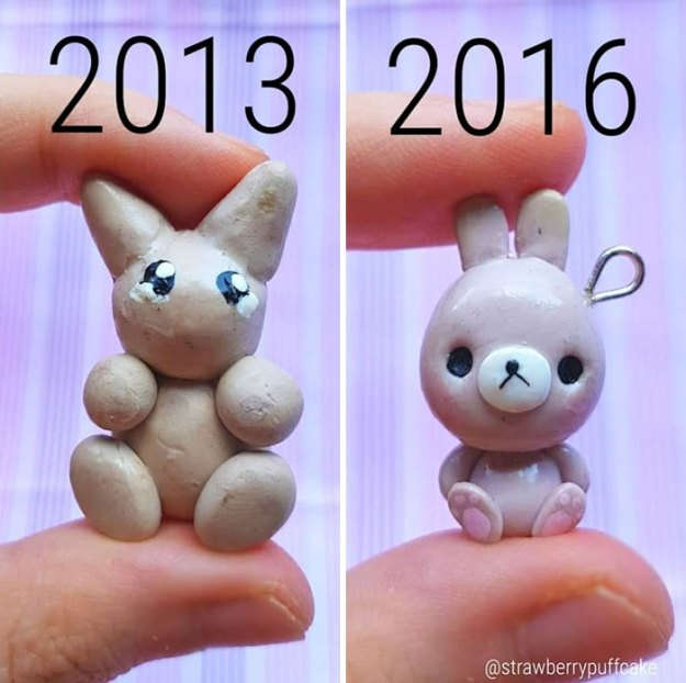 5b6d3ba6f1723-Clay-modeling-artist-showed-how-the-experience-made-him-evolve-and-this-progress-is-very-good-to-see-5b6aabd4bcf38__700 This Artist Was Pleasantly Surprised How Much Her Art Evolved After She Tried Recreating Old Artwork Art Random