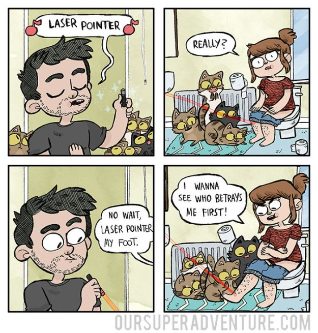 5b6d3bc239c20-relationship-comics-boyfriend-cats-sarah-graley-illustration-51-5b6ae32261e06-png__700 Artist Creates Hilarious Comics Illustrating Her Daily Adventures With Her Fiancé And Her Four Cats Random