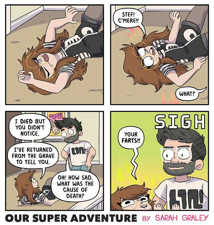 5b6d3bc6269e5-relationship-comics-boyfriend-cats-sarah-graley-illustration-5b6ae6a88b2ba__700 Artist Creates Hilarious Comics Illustrating Her Daily Adventures With Her Fiancé And Her Four Cats Random