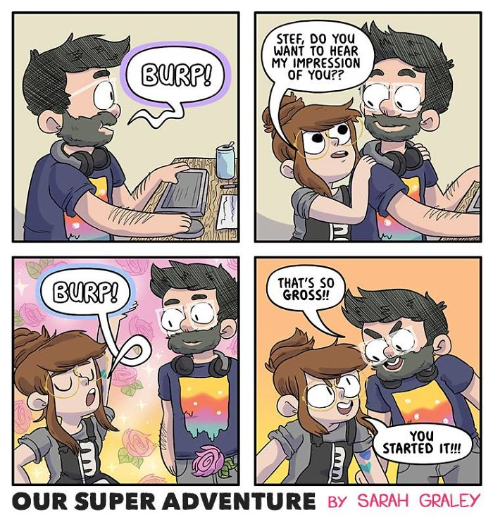 5b6d3bccb3128-relationship-comics-boyfriend-cats-sarah-graley-illustration-5b6ae69f8992c__700 Artist Creates Hilarious Comics Illustrating Her Daily Adventures With Her Fiancé And Her Four Cats Random