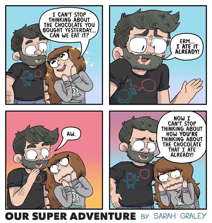 5b6d3bd1f239c-relationship-comics-boyfriend-cats-sarah-graley-illustration-5b6ae6d87e312__700 Artist Creates Hilarious Comics Illustrating Her Daily Adventures With Her Fiancé And Her Four Cats Random