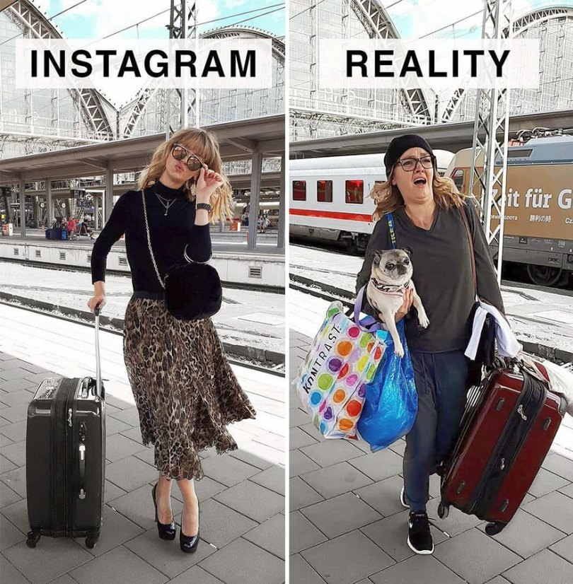 5b976d9761160 German shows the reality of perfect instagram photos and the result is a lot of fun 5b8e33e44067c  880 - Instagram: Expectativa x Realidade # Parte 2