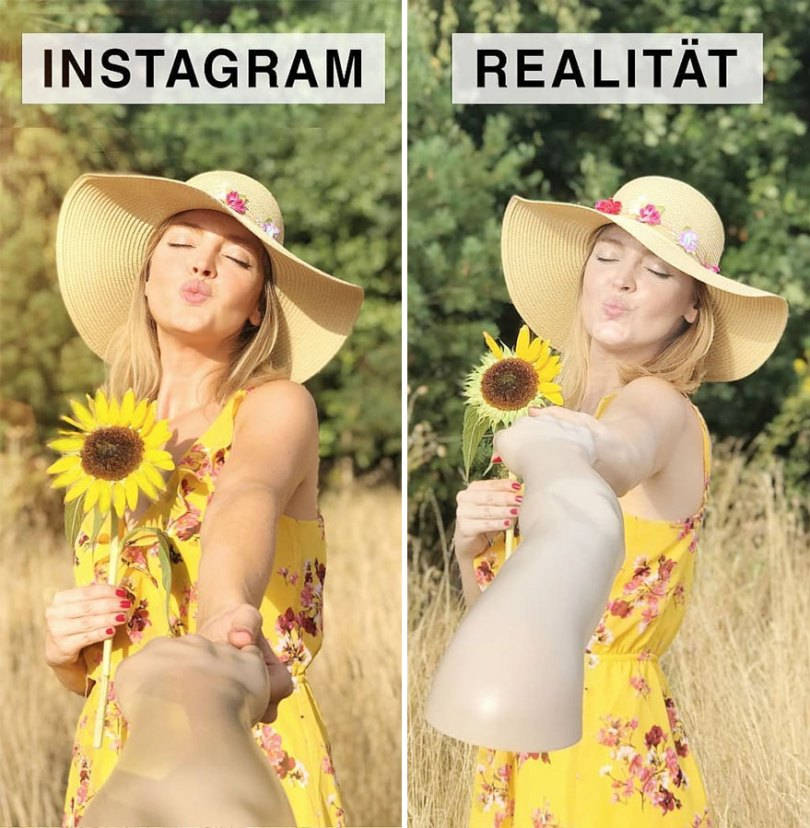 5b976d98be899 German shows the reality of perfect instagram photos and the result is a lot of fun 5b8e33ea17a06 880 - Instagram: Expectativa x Realidade