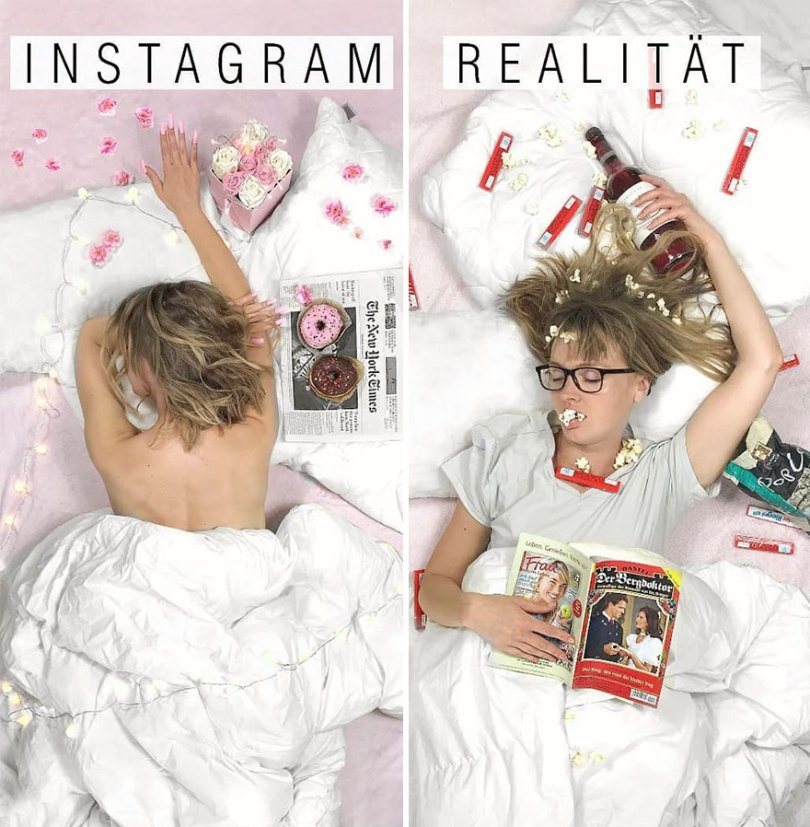 5b976d998bcfb German shows the reality of perfect instagram photos and the result is a lot of fun 5b8e33de20430 880 - Instagram: Expectativa x Realidade