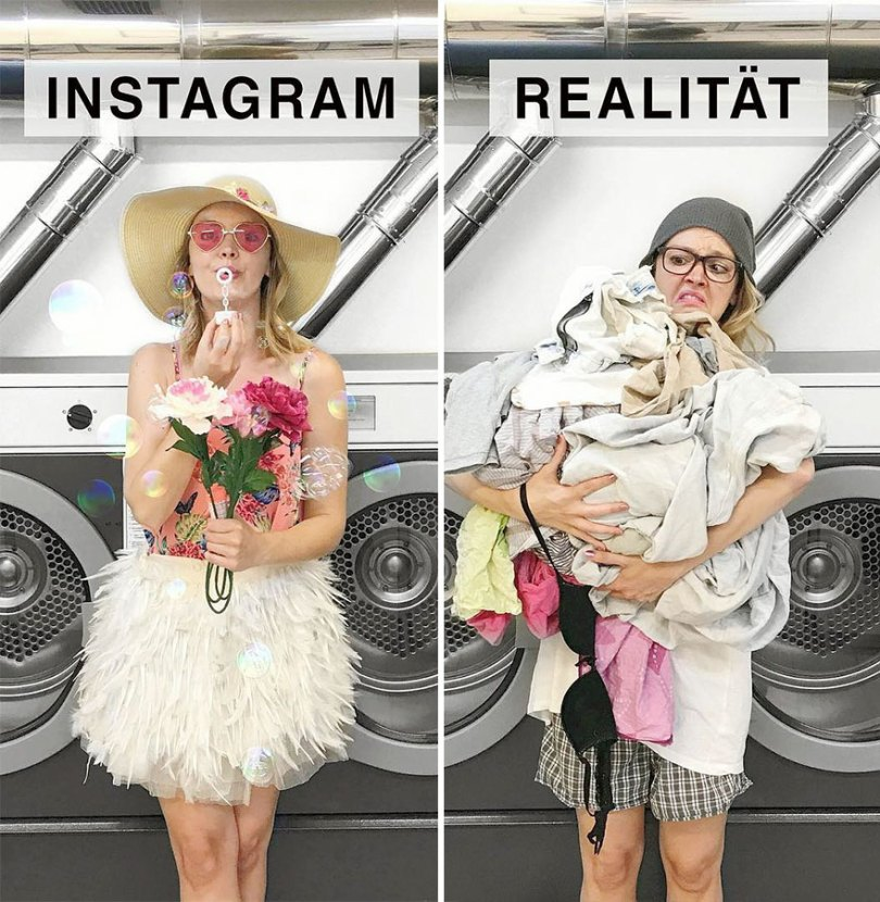 5b976d9a06bf3 German shows the reality of perfect instagram photos and the result is a lot of fun 5b8e33e62c051  880 - Instagram: Expectativa x Realidade # Parte 2