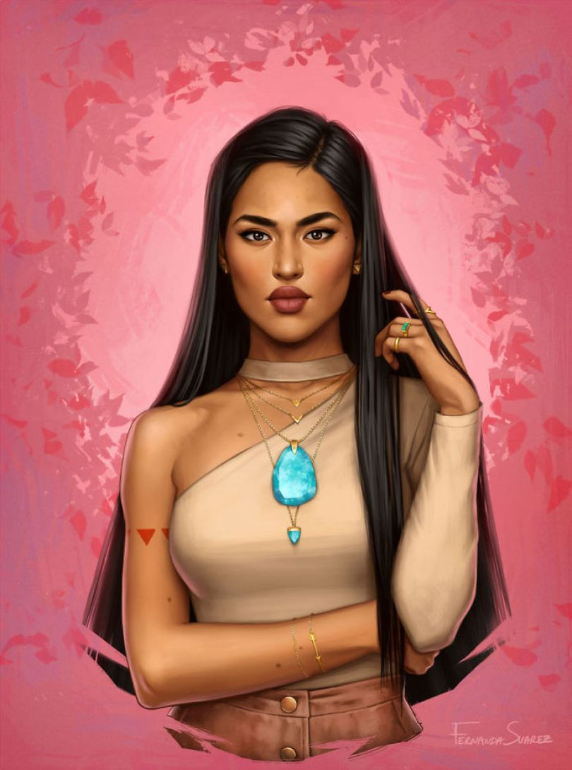5bb6136211f5c Illustrator Shows How Disney Princesses Would Look Like If They Lived In 2018 And The Result Is Awesome 5bb3266cc0ad4  700 - Illustratora mostra como os personagens da Disney ficariam se vivessem em 2019