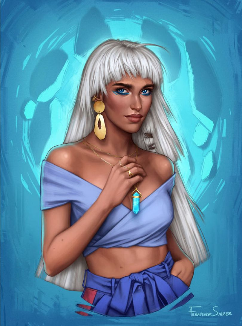 5bb613642721b Illustrator Shows How Disney Princesses Would Look Like If They Lived In 2018 And The Result Is Awesome 5bb3265b52a10  700 - Illustratora mostra como os personagens da Disney ficariam se vivessem em 2019