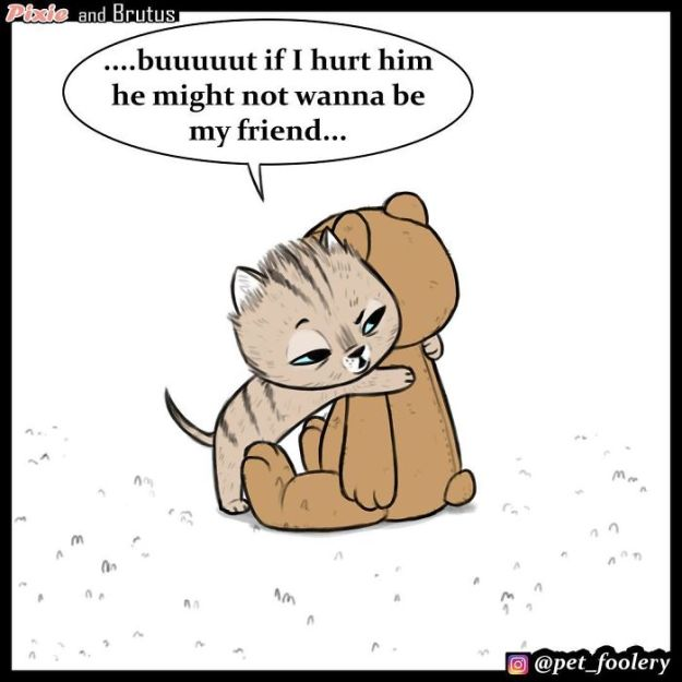 5bbb6f9334803-funny-animal-comics-adventures-dogs-pixie-brutus-pet-foolery-5bb20669a56d3__700 Adorable Comics About An Old Military Dog And A Little Kitten That Will Warm Your Heart Random
