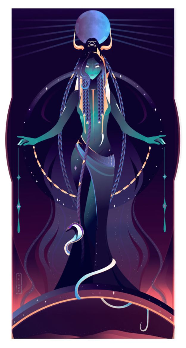 5bcf06ef1ea2d-7-Nut-Yliade-5bc646772f807__700 This French Artist Created 11 Beautiful Illustrations Of Ancient Egyptian Gods And Goddesses Random