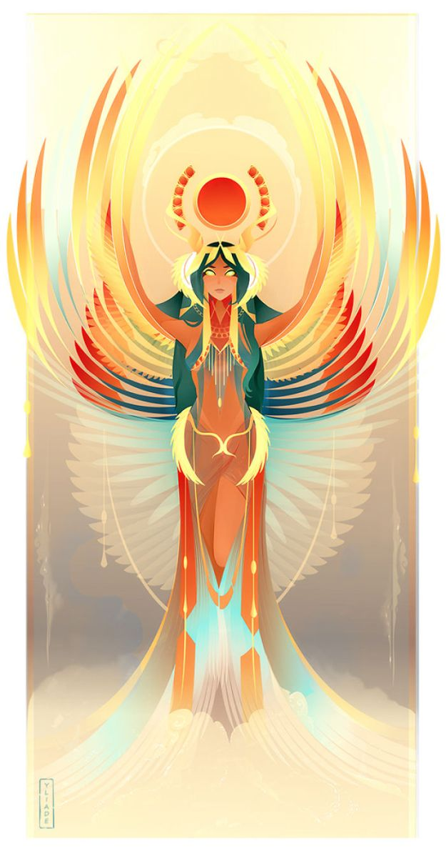 5bcf06ef43e0d-9-Isis-Yliade-5bc6468e9515c__700 This French Artist Created 11 Beautiful Illustrations Of Ancient Egyptian Gods And Goddesses Random