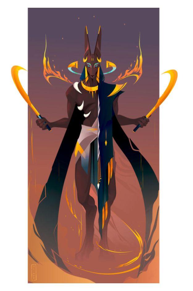 5bcf06f06d830-10-Anubis-I-Yliade-5bc64696c9d47__700 This French Artist Created 11 Beautiful Illustrations Of Ancient Egyptian Gods And Goddesses Random