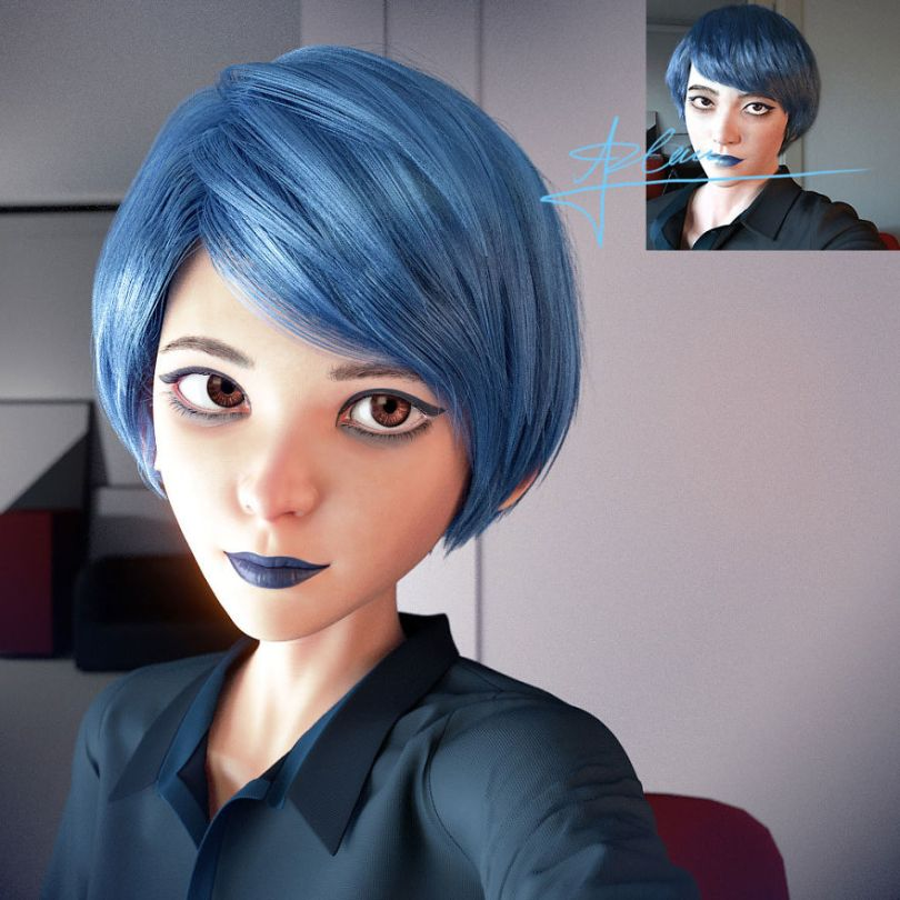 5bd1c51fde0dd People continue to be turned into cartoon characters by the artist Lance Phan 5bd0195871c9e  880 - Você gostaria de se tornar um personagem da Pixar? (Parte 2)