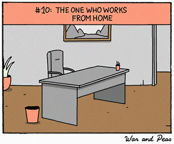 5bd971156e9a7-10-colleagues-you-meet-during-worklife-elizabeth-pich-war-and-peas-comic-11-5bd812c768f67__605 10 Types Of Coworkers Every Workplace Has Random