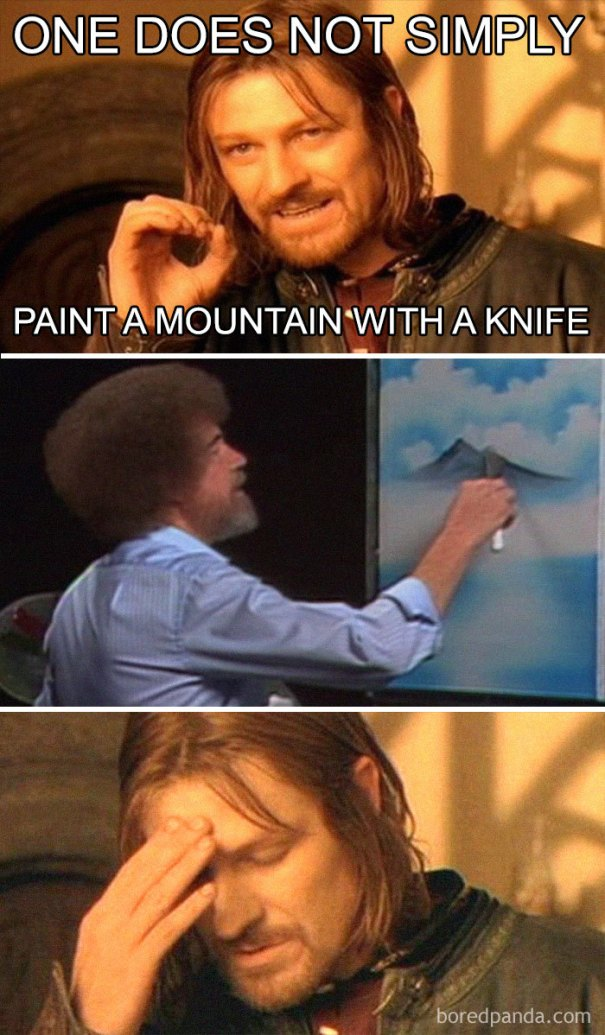 5be3fb3f90ae5-Untitled-1-5be2c175c9892__700 25+ Bob Ross Memes That Show He Truly Was The Best Art Random