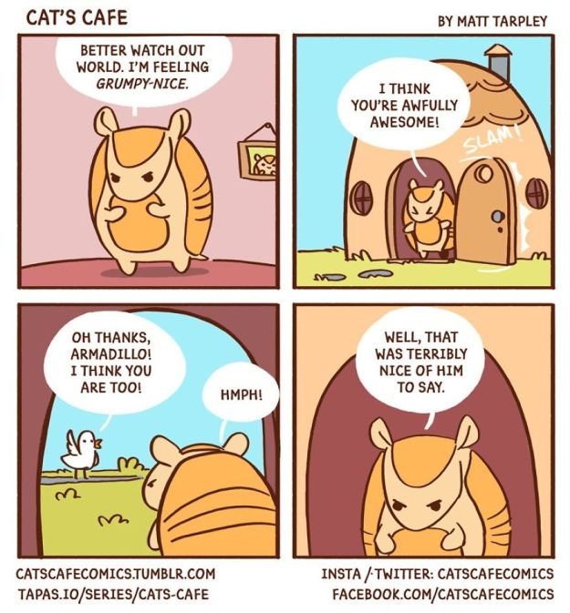 5bf67060a538a-A-Cats-Caf-for-Everyone-5bf3de6dd6774__880 47 Wholesome 'Cat's Cafe' Comics That Will Brighten Your Day Random