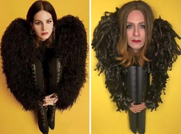 "5bfe61d6ed632-lenk3-5acf534da6a1c__700 Former ""Buffy"" Star Recreated 30 Celebrity Outfits And It's Hilarious Random"