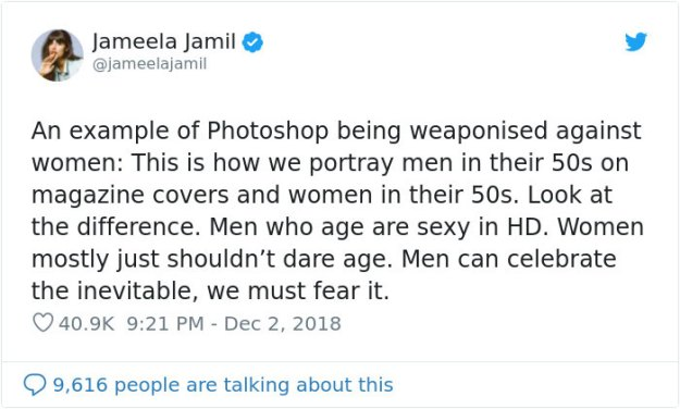 5c07dee82587e-1tweetas-5c0629ae80a27__700 Jameela Jamil Gives Examples Of Why Airbrushing In Magazines Should Be Illegal Random