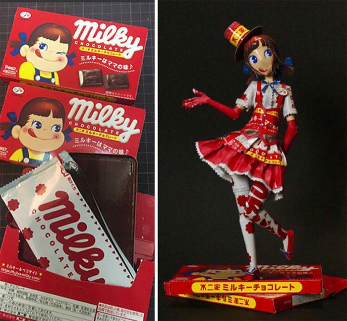 5c25de41abfd4 3 8 - Japonês transforma embalagens de alimentos em arte surpreendente
